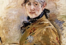 "Berthe Morisot / Morisot (1841 – 1895): a grand dame of impressionism along with Mary Cassatt. She was born in Bourges, France in 1841 into a family of wealth. Her father was a high ranking civil servant. She married Manet's brother Eugene in December, 1874. Her house at 4 Rue de la Princesse became an inspirational centre for Impressionists. March,1895, she died of pneumonia. With an international reputation as an artist, her death certificate read, ""no profession. POUL WEBB ART BLOG, Paul Man. / by Lee Ann Mills"