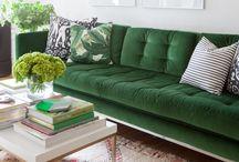 Livingroom / Livingroom dreams, grey, white, petroleum, green, eclectic, modern, scandinavian, cactus, green plants