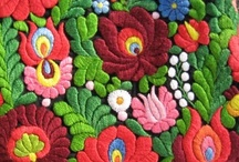 Embroidery / traditional hungarian and mexican embroidery + susani
