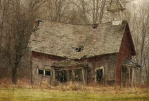 """Auld Lang Syne / """"Auld Lang Syne"""" can be translated as """"Days Gone By"""".  I think these photos bring  to mind the melancholy of those days gone by.  I can't help wondering about the people who lived, learned, and worshiped in these places and why they abandoned them.   / by Pekeapoomom"""