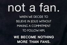 """Fan or Follower? / It's not enough to say the """"Sinner's Prayer"""" and believe in Jesus Christ, or Yeshua (His name in Hebrew) - we must OBEY Him as He told us to in the Bible for the rest of our life as well!"""