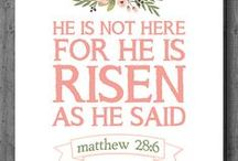 Easter- Spring / Alleluia- He is Risen Indeed! Resurrection and New Life Spring Decor