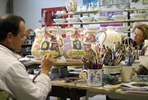 Ceramic artists at work!