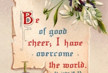 Bible Verses-Vintage Typography / the Good News in vintage type and style