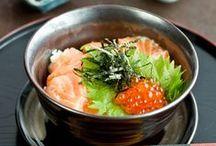 Japan: Donburi どんぶり / Rice bowls. I eat lots of these.