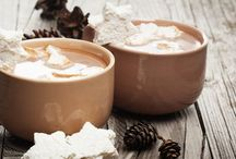 Hot Cocoa and Coffee / When you make cocoa and coffee with real milk, it just tastes better.