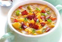Creamy Soups & Stews / Creamy soups and stews you can serve all year long. The addition of dairy helps make these recipes nutritional powerhouses!