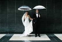 Wedding Color Palette: Black and White