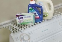 Laundry Room Organization (favs of Minding Your Matters) / You have to do laundry anyway! May as well be organized about it. It will take less time & then you can go on to your preferred activities