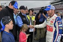 Dale Earnhardt Jr !!! / My favorite Nascar driver!  Driver of the #88 Nascar Sprint Cup car for Hendrick Motorsports.  As owner of Jr Motorsports he received the Nascar Nationwide 2014 Owners Championship trophy.  Chase Elliot who drives for Dale Jr in the Nationwide series won the 2014 Nationwide Championship and now holds the record as the youngest driver to do so. / by Rhea