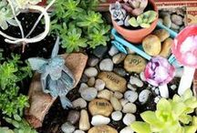 Miniature & Fairy Gardens / Ideas and Inspiration for Miniature Fairy Garden Design. See More at FairyInspired.com.