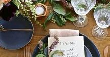 Thanksgiving Tablescape Ideas / Floral and Table Design Ideas for a Modern Thanksgiving.