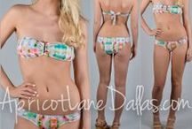 SWIMSUITS! / You can find these at ApricotLaneDallas.com!