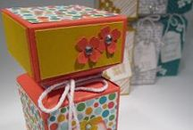 Stampin' Up! Boxes & Bags / Made with Punch Board, Dies & Score Board Visit my board: Stampin Jacqueline My Gallery