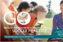 Go From Stomachache to Soccer Practice / Cramps. Nausea. Stomach pain. These symptoms could be signs of something more serious. If you experience any of these symptoms, don't wait to visit the ER at CRMC. With our streamlined, patient centered process, we'll have you back to better in no time.   For more information about when to go to the ER for stomach pain, call 855-614-7288, or visit us at www.CRMC-GO1.com.