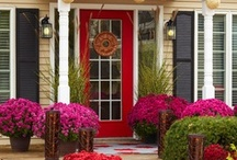 First Impressions / Creating an exterior invitation at the front door. / by Organized Design Amy Smith