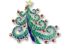* Jeweled Christmas Trees *