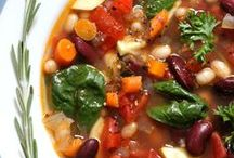 Soup / All kinds of soup - all vegetarian, but some need veganization