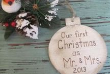 Rustic Christmas / Handmade Christmas Ornaments featuring wood, burlap, lace and of course personalized. / by Georgetown Cottage Crafts