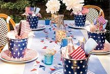 Patriotic Party / Ideas for throwing fabulous patriotic themed parties - 4th of July, Memorial Day, Labor Day