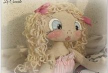 LE COCCOLE / Dolci bambole di stoffa da coccolare.