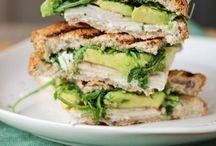 Yummy sandwiches and savoury snacks