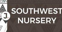 SOUTHWESTERN BABY NURSERY / southwestern baby nursery, baby bedding, nursery design ideas
