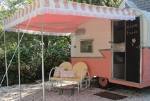 Camping with Style / Glamping:  Glamour + Camping = Glamping (Mary Jane's Farm magazine) http://www.maryjanesfarm.org/ Vintage Trailers, Elegant Tents
