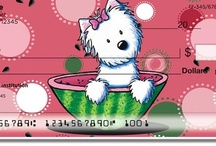 KiniArt: Licensed Artist Series / We use KiniArt's adorable designs in our checks, address labels, and checkbook covers. If you like the art, pin it here! Check out her website at kiniart.com. / by CheckAdvantage LLC