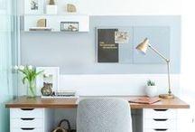 Ideias de Home Office / Decoração para escritório home office.