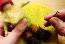 \\\ crafts   felting instructions \\\ / Felting: needlefelting & wetfelting tutorials, how-tos, patterns, tips & tricks / by Audrey B.