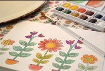 Alex Colombo: Licensed Artist Series / Check out the whimsical art of Alex Colombo on our checks, address labels, and checkbook covers.  Visit her website at http://www.alexcolombo.com/ / by CheckAdvantage LLC