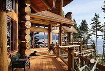 Log Cabins / Love country living / by Lori Greene
