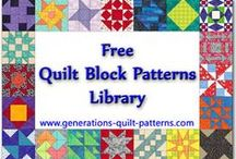 Quilt Patterns / My dream list of free traditional quilt patterns.  I wonder if I have enough time to do them all...