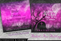 Dark Events & Holidays / Gothic Weddings : Halloween : Macabre Theme Events : Vampire : Twilight : Wolves :