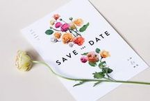 I N V I T A T I O N S / Design of Invitation for Events, Weddings + Associated Design Collateral With Those Designs