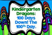 100 Days Down - Activities for the 100th Day of School / Reaching 100 days of school is definitely a milestone that deserves recognition!  In my district kindergarten starts three days after grades 1 and up, so we recognize the 100th day of school for the big kids, and celebrate the 100th day of school for kindergarten.  This board is where I'm storing those fab ideas!