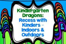 Recess with Kinders - Indoor and Outdoor Ideas / I don't know about anybody else, but I know my kinders LOVE recess time!  I have found that while they love running around with each other outside, that can often lead to conflicts.  This year I'm going to try and have various activities available outside that they can complete...how do you handle recess in your classroom?