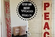 Wood signs / DIY Wood sign tutorials, ideas and inspiration #woodsigns #woodsign #diywoodsign #diysigns
