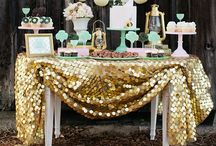 Bubbly in love bridal shower ideas (pink + gold)