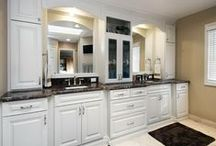 Master Bathroom | Bloomingdale / Don't be afraid of angles.  Just think of the possibilities you can have 'stepping' outside the box.  Bloomingdale, Illinois Master Bathroom