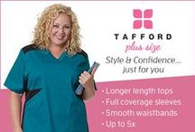 Tafford Plus Size / Tafford Uniforms is excited to present a new collection of scrubs made specifically for the full figured woman! Blending trendy styles with the function you need, our Tafford Plus Size collection of scrub tops and scrub pants were made just for you!