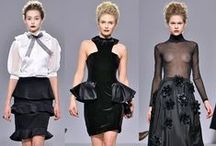 Moda for PPQ at LFW / Moda in Pelle took to the catwalk as part of PPQ's AW15 showcase, with a selection of cut out booties and high stilettos detailed with embellishment and ribbons. The line was designed by PPQ's Amy Molyneaux to compliment the show's modern tragedy, gothic theme