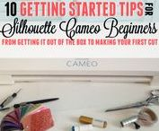 Beginner Silhouette Tutorials / New to Silhouette? Find beginner Silhouette CAMEO tutorials from Silhouette School blog, the best starter packs of vinyl, Silhouette heat transfer vinyl, fonts and more on this board just for Silhouette CAMEO, Portrait, and Curio beginners!