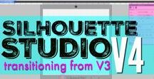 Silhouette Studio V4 Tutorials / Silhouette Studio V4 Tutorials from Silhouette School Blog! If your Silhouette Design Studio doesn't look like the majority of Silhouette CAMEO tutorials it's likely because they're based on an old version of Silhouette Studio. This board contains a collection of Silhouette Studio V4 tutorials for CAMEO, Portrait, and Curio.