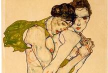 Austrian Painters / Gustav Klimt, Egon Schiele, Oskar Kokoschka, Anton Kolig, Ernst Fuchs / by João Roque