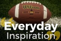 """Everyday Inspiration"" / Words to live by / by USA Football"