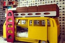 Kids Spaces / A mixture of modern,vintage and retro inspiration for your kids nurseries//bedrooms//playrooms//backyards.