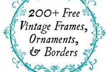 Fontastic! / Feminine modern vintage fonts and graphics to either inspire or use for your handmade business.
