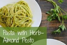 """Recipes - Pastas & Noodles / I love pasta!!  It's one of the things I miss the most now that I'm doing the Paleo diet.  Sometimes I treat myself to a pasta dish with rice or brown rice pasta, otherwise most of these dishes can be done with """"miracle"""" noodles or zucchini noodles... / by Julie T."""